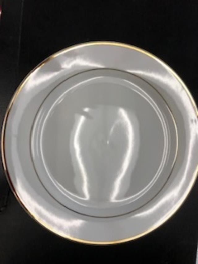Where to find PLATE, WHTE W  GOLD RIM 10 in Boston
