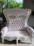 Where to rent Throne chair,  Double White in Boston MA