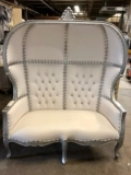 Where to rent Throne Chair, Silver   White in Boston MA