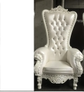 Where to rent Throne Chair, single white in Boston MA