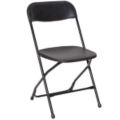 Where to rent CHAIR, BLACK FOLDING in Boston MA